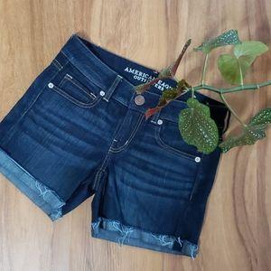 American Eagle Distressed Cuffed Jean Shorts 4
